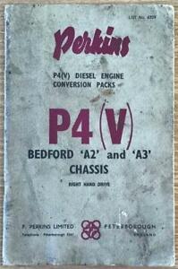 PERKINS P4(V) Diesel Engine Conversion Handbook c1950 #6309 for Bedford A2 & A3