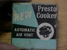 Vintage Presto Pressure Cooker Automatic Air Vent #82060 Free Ship
