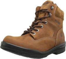 "Wolverine Men's Work Boots DuraShocks Leather 6"" Brown EH Steel Soft Toe"