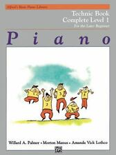 Alfred's Basic Piano Library Technic Complete, Bk 1: For the Later Beginner Pal