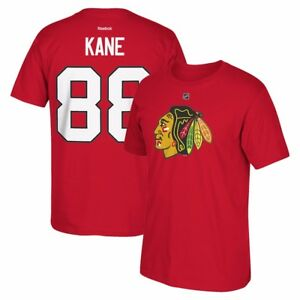 Patrick Kane Reebok Chicago Blackhawks Premier Jersey Red T-Shirt Men's