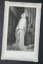 Image pieuse dentelle canivet holy card lace Sainte Philomène Fin XIXème