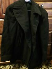 Vtg men's Us Navy military wool double-breasted peacoat, navy size small