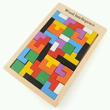 En bois TANGRAM brain teaser puzzle éducatif bébé enfant kid toy