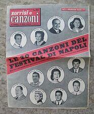 SORRISI E CANZONI N.20 19 Maggio 1957 Festival di Napoli