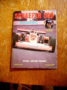 SCHAEFER 500 at POCONO June 30 1974 Souvenir PROGRAM Indy Racing
