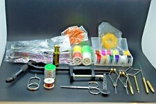 Fly Tying Tools Bundle, Thread, Vise, Hackle, Whip, Wire, Bodkin, Bobbin, Mylar