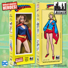 Official DC Comics Supergirl 8 inch Action Figure in Mego Style Retro Box