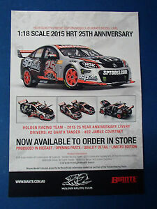 BROCHURE BIANTE 1:18 2015 HRT 25TH ANNIVERSARY LIVERY TANDER/COURTNEY NEW 1 ONLY