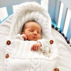 Infant Baby soft Crochet Knit Swaddle Wrap casual Swaddling Blanket Sleeping Bag