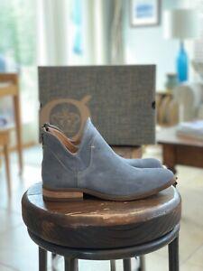 BORN Arula Blue Suede Bootie — Size 7