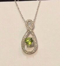 """Gorgeous Sterling  Silver  Peridot  Necklace  with 18"""" Chain"""