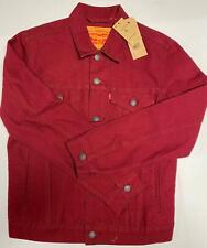 Levi's Denim Trucker Jacket Red Adult Classic Fit Jean Coat SIZE SMALL