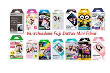 Verschiedene bunte Fujifilm Instax Mini Filme für Instax Mini Sofortbild Kamera