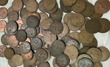 100 x Vintage British Large One Penny UK copper Pennies Victoria to QEII lot#115