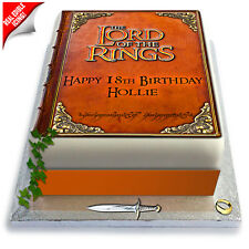 Lord of The Rings Book Cake Topper Image Edible Icing Birthday Party Decoration