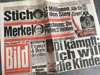 Bildzeitung BILD 14.12.1992 * Geschenk 25. 26. 27. 28. 29. 30. Geburtstag BDay