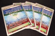 4 x Parallel City 145/162 World Championship Pokemon Cards Mint