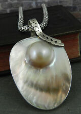 Sterling Silver Mabe Pearl Pendant on Chain