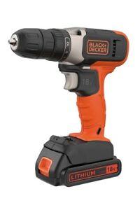 Black+Decker 18v Cordless Drill Driver Lithium 1.5ah Battery BCD001C1