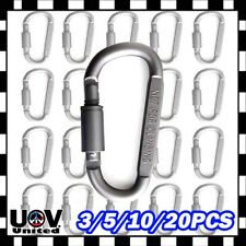 20 x Ideal Aluminum Carabiner D-ring Key Chain Keychain Clip Hook Buckle Outdoor