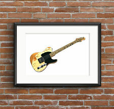 Jeff Beck's 1954 Fender Esquire POSTER PRINT A1 size