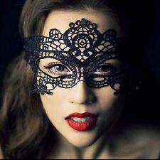 Sexy Womens Black Lace Eye Mask Costume Party Ladies Dress Masquerade