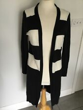 Jane Norman Ladies Black Striped Long Sleeve Cardigan Size 6. Great Condition.