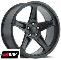 "(2) 20 x9.5"" (2) 20 x10.5"" Wheels for Dodge Charger Satin Black Rims SRT Demon"
