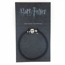 Official HARRY POTTER Silver Plated and Leather CHARM BRACELET for Slider Charms