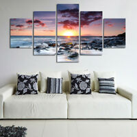 5Pcs/Set Unframed Sunset Sea Wall Art Canvas Picture Print Painting Home Decor