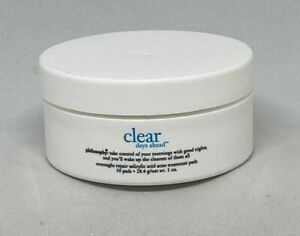 Philosophy Clear Days Ahead Overnight Repair Salicylic Treatment Pads 30 ct NEW