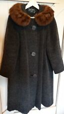 Mink Collar Mohair Ladies Coat, Vintage, Made in England, Excellent Condition.