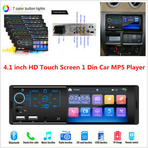 4.1 inch Touch screen Dual USB Car Bluetooth MP5 Player Card Radio Host Colorful