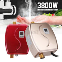 3800W 3S Instant Electric Tankless Hot Water Heater Bathroom Kitchen