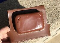 Vintage Brown Leather Camera Case #F331