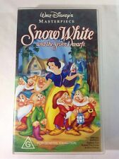 WALT DISNEY MASTERPIECE SNOW WHITE AND THE SEVEN DWARFS - VGC - CLASSIC VHS