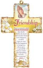 FRIENDSHIP PRAYER VERSE CROSS - STATUES CANDLES PICTURES CRUCIFIXES ALSO LISTED