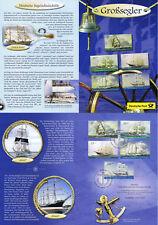 BRD 2005: Segelschiffe! Erinnerungsblatt mit den Jugendmarken Nr 2464-2468! 1812
