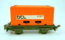 """Matchbox SF No.25C Flat Car with orange Container """"OCL"""""""
