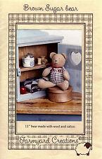 """Brown Sugar Bear 11"""" Pattern"""