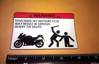 x2 / Two Pack of Warning Motorcycle Sticker JDM Racing Decal Sticker Dont Touch