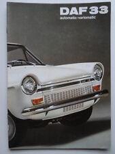 DAF 33 Saloons orig 1970 UK Market sales brochure