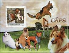 Sao Tome & Principe Dogs Stamps 2010 MNH Beagle Basenji Chihuahua 1v S/S
