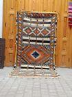 Moroccan antique Beni ourain rug berber 6.76 ft/ 3.28 ft handmade vintage wool