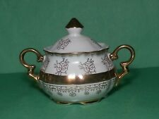 Sterling China Sugar Bowl Japan Fine Porcelain with Gold Paint Decoration