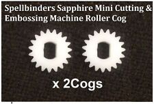 Spellbinders Sapphire Coupe & Gaufrage Machine Rouleau Cog X 2