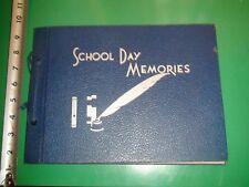Jb371 Vintage School Day Memories Scrapbook Album Gibson & Co