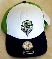 SEATTLE SOUNDERS Womens Hat Snapback Cap Sequin Logo Trucker Style '47 Brand