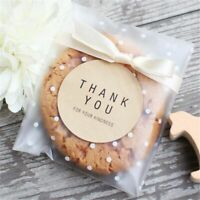 Cookies Packaging Bags Party Gifts Candy Storage Plastic Bag With Bow 100pcs/lot